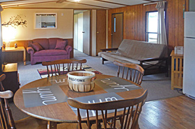 Kitchen and Living Area of Helen's Place Rental at Scenic View Campground