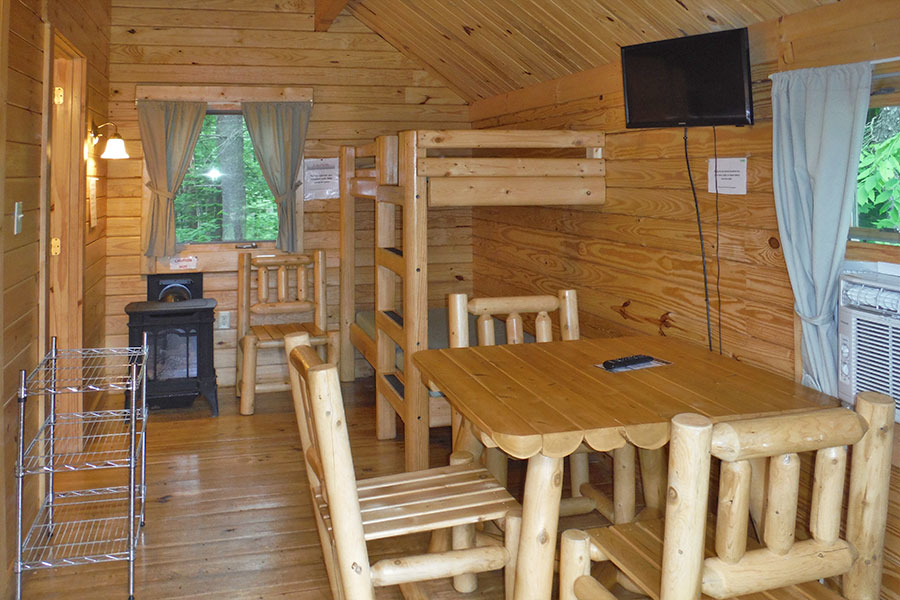Deluxe Cabin Interior at Scenic View Campground