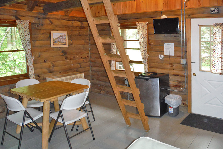 Rustic Cabin Interior at Scenic View Campground