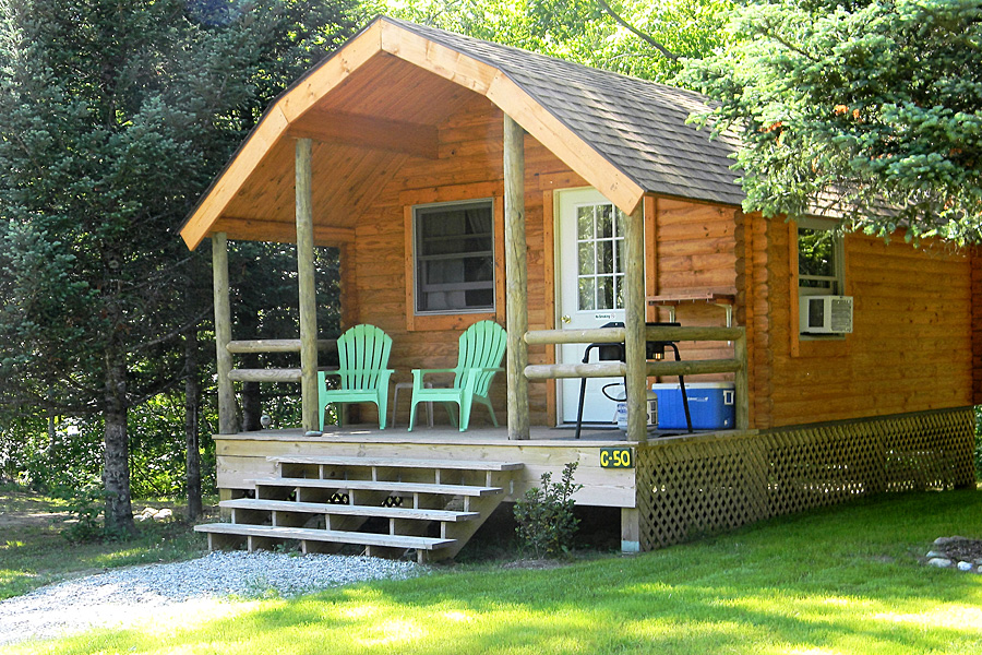 Deluxe Cabin Exterior at Scenic View Campground