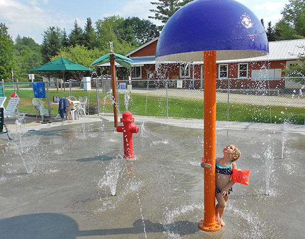 Splash Pad at Scenic View Campground.