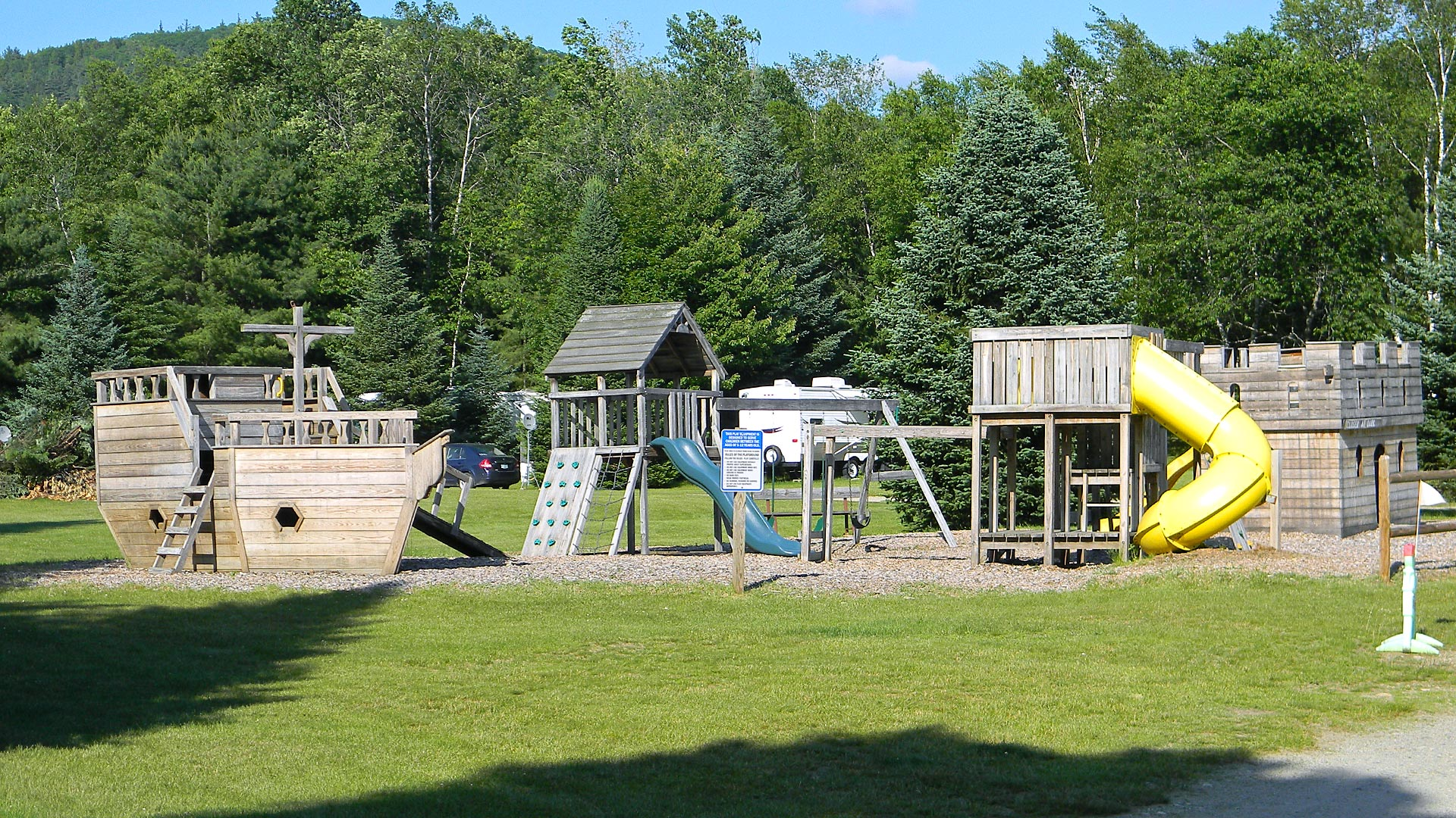 Playground at Scenic View Campground.