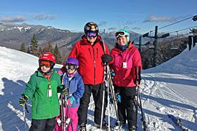 A New Hampshire skiing family