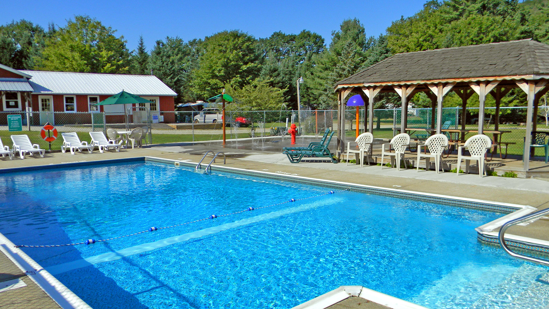 Swimming pool at Scenic View Campground.